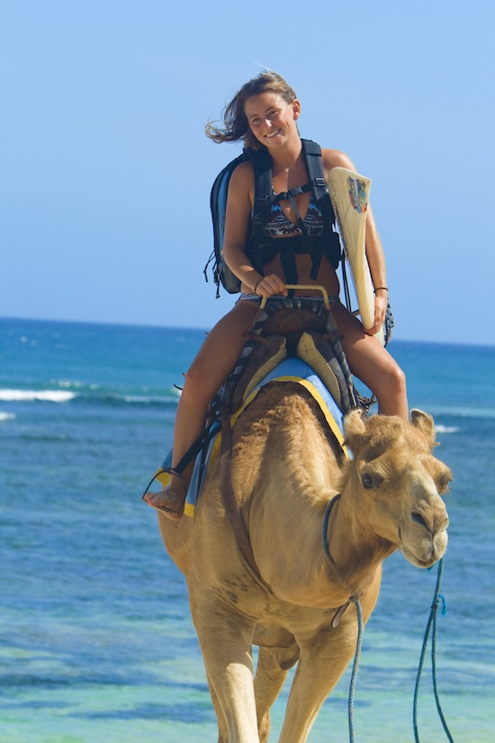 alison teal on a camel