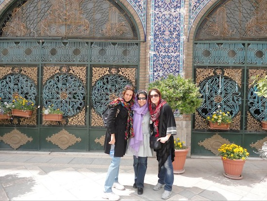 Marjan Kamali and friends in Tehran, Iran Travel