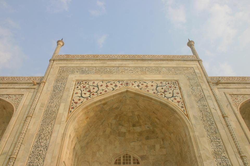 close up Taj Mahal