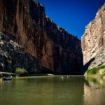 Crossing the US-Mexico Border at Big Bend, Texas